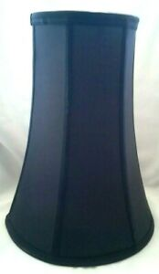 Tall Black Hexagon Silver Lined Lamp Shade