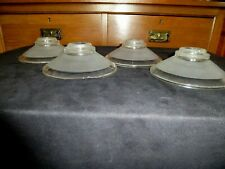 1 X FRENCH ART DECO CLEAR & FROSTED GLASS SHADES