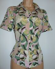 Laura Ashley, Vintage/ Retro Silk Blend Floral Pastel Blouse Shirt, UK 10/12