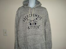 MEN ABERCRONBIE & FITCH PULLOVER WITH RAISED  LOGO HOODIE SIZE L NWT