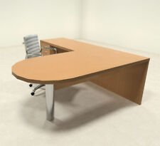 3pc Modern Contemporary L Shape Executive Office Desk Set, #RO-ABD-L7