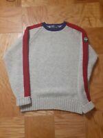 Vintage Polo Ralph Lauren Uni Crest Knit Sweater Size XL 100% Wool