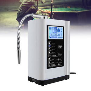 Water Ionizer Purifier Machine Filter PH3.5-10.5 Touch LCD Washer Auto-cleaning