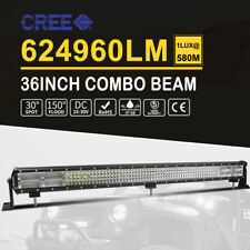 "Lumileds 4032W 36Inch LED Light Bar Flood Spot For Ford Jeep 4WD ATV SUV 42""32''"