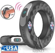 Vibrating Penis Cock Ring Clit Stimulator Couple Sex Toys for Men Enhancer
