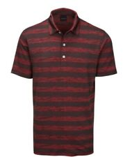 Dunning Golf Pennan Golf Polo~ Black/Charcoal/Red ~ Large~ NWT $99 Retail