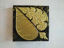 Acrylic Painting Wood Framed Calico Abstract Leaf Gilding Wall Art Home Decor