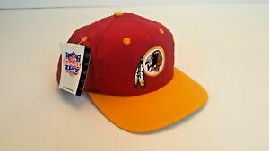 NEW Vintage 90s Washington Redskins Plain Logo Game Day Logo 7 Hat NFL