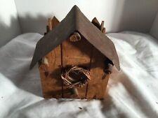 Wood Rustic Bird House Outdoor Wood Birdhouse Porch Garden Decor Wildlife House