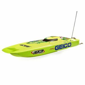"""Pro Boat Miss Geico Zelos 36"""" Catamaran Brushless Electric RC Speed Boat"""