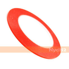 NEW 25M 3MM Red Transparent Double Sided Sticky Adhesive Tape USA For LCD iPhone