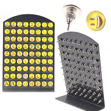36 Pairs Cute Yellow Smiley Face Earrings Set Round Emoticons Emoji Ear Studs FT