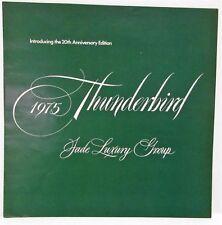 1975 Ford Thunderbird Jade Luxury Group Sales Brochure