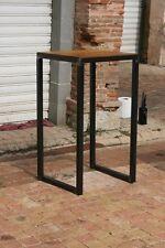 Table bistro mange debout meuble industriel mètal  bois sur mesure