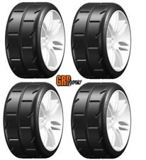 NEW GRP Mounted Belted Tires White 1/5 W02 Revo S5