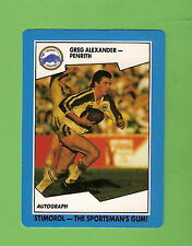 1989 STIMOROL RUGBY LEAGUE CARD  #52  GREG ALEXANDER, PENRITH PANTHERS