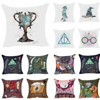 Polyester Cartoon Harry Potter Cushion Cover Sofa Throw Pillow Case Home Decor