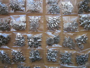 Job lot -100 Mixed Tibetan Silver Charms +10 FREE Owl Charms -Clearance
