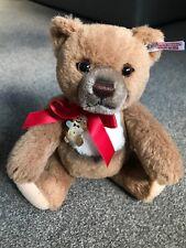 Steiff Cookie The Holiday Bear Alpaca Swarovski Gingerbread Ornament Adorns Neck