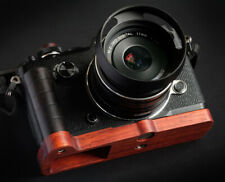 Retro Natural Wood Wooden Hand Grip Holder Base Plate for Olympus PEN-F F Camera