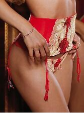 Free Shipping Victoria's Secret VS XS S  Sexy Dream Angels Garter Belt Lace Red