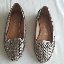 JEFFREY CAMPBELL  Studded Flats Pumps Loafers Size 8