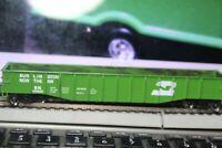 50'railroad gondola burlington northern METAL WHEELS RTR car 1/87 walthers
