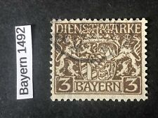 BAYERN Dienstmarken Mi D16X Used XF signed Helbig- CV +12 euros
