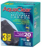 AQUACLEAR 20 ACTIVATED CARBON 3PKS.