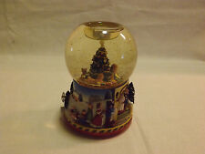 Christmas Motif Water Globe with Music Box. LOOK!