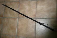 ILAVO® Peitsche aus Kunstleder mit Strass verziert schwarz 62cm Peitsche ZK04