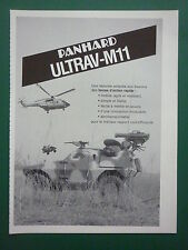 1980'S PUB PANHARD BLINDE ULTRAV-M11 FAR SUPER PUMA ALAT ORIGINAL FRENCH AD