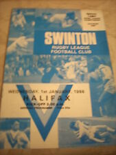 Programa 1.1.86 Swinton V Halifax