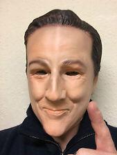 David Cameron Latex Mask UK primo ministro britannico Overhead fantasia  Party maschere 84bf350f7c14