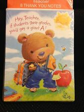 Teacher Thank You Cards 8 with Envelopes Teacher Appreciation Student School