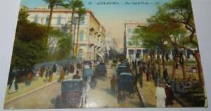 EGYPT ALEXANDRIA RUE CHERIF PACHA WW1 ERA POSTCARD 1915     850