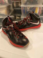 2012 Nike Lebron 10 X Pressure Black Red  598360 001 Size: 13