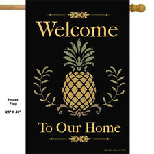 Welcome to Our Home Pineapple  HOUSE Flag * Double Sided * TOP Quality
