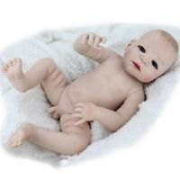 55CM Hot 22'' Full Body Vinyl Silicone Reborn Baby Doll Lifelike Dolls Naked Boy