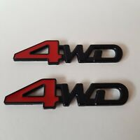 4WD Metal Badge x2 Red Black 3D Emblem for Audi Q3 Q5 Q7 SQ3 SQ5 SQ7 SUV Quattro