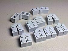LEGO x 10 Light Bluish Gray Hinge Brick 1 x 4 Swivel Top Base Complete Assembly