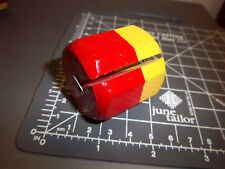 wood yellow and red fishing bobber, 1.5 x 1.5 inches, great collectible item