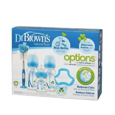 Dr. Brown's Bottle Gift Set Wide Neck Blue - Bruised Box