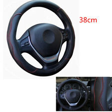 Skidproof PU Leather Car Steering Wheel Cover Four Seasons Universal 38CM 15inch