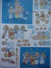 3D A4 Christmas Paper Tole Pretty Baby Angels FREE GIFT