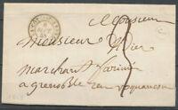 1848 Lettre CAD T15 LA COTE ST-ANDRE +BR J ISERE(37) X3704