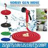 200FT Garden Hose Expandable Flexible Water Hose Pipe Watering Spray Gun Kits