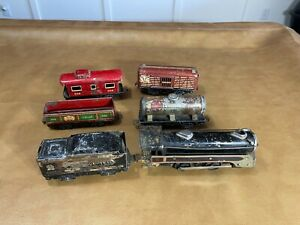 MARX  0-4-0 Steam Locomotive, tender and 4 car lot for parts or repair