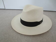 MENS CLASSIC PANAMA FEDORA SUMMER HAT NEW WITHOUT TAGS UNWORN MINT SIZE M MEDIUM