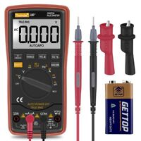 6000 Counts Auto Ranging Digital Multimeter with Battery Alligator Clips Test